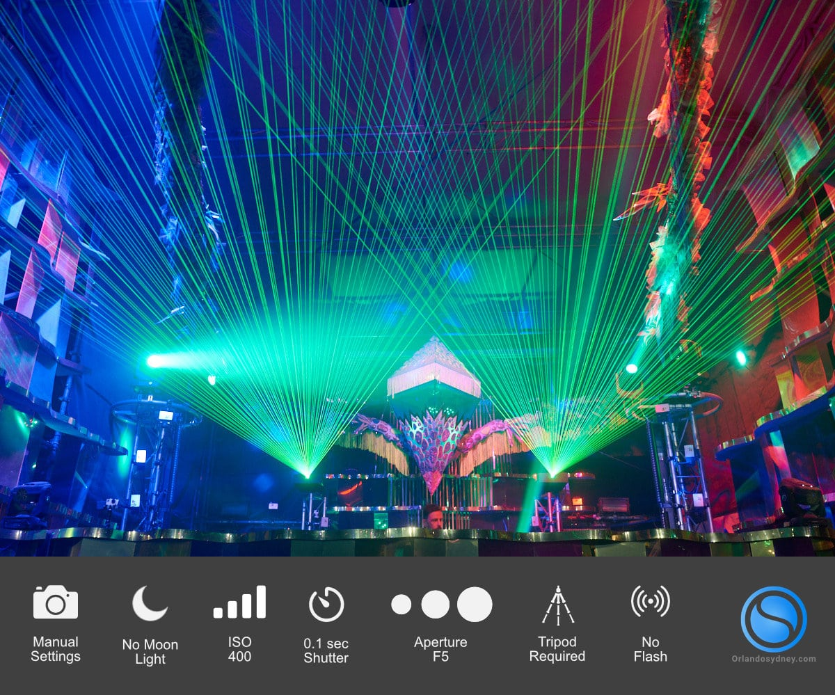 Laser lights from Stage Night Time Photos